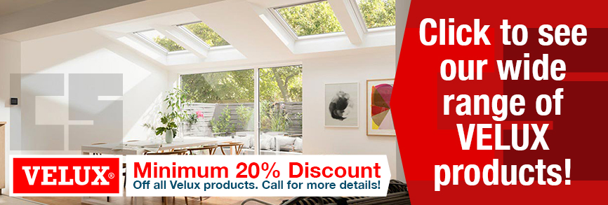 Click to see our wide range of VELUX products! Minimum 20% Discount Off all Velux products. Call for more details!